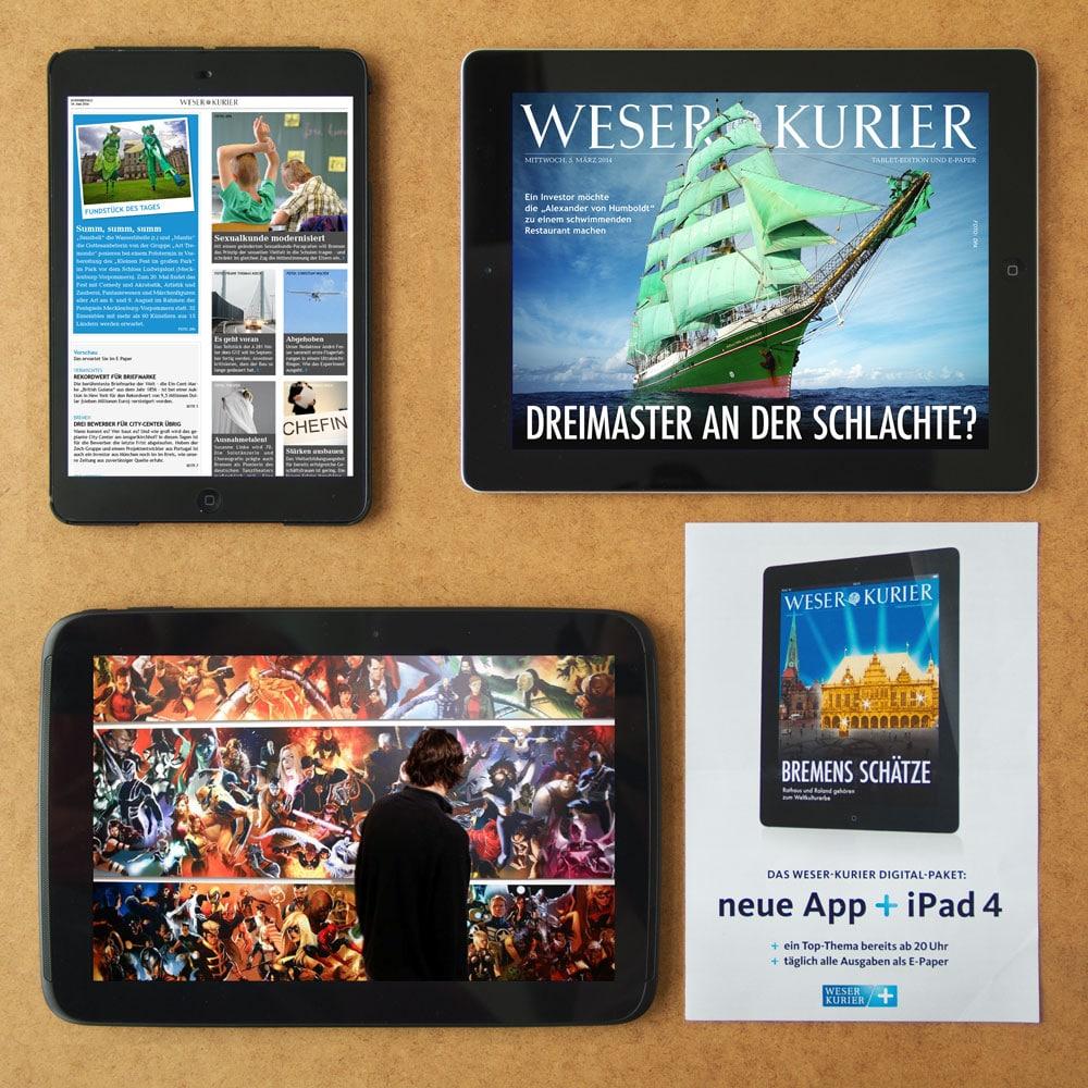 Portfoliobild WESER KURIER TABLET EDITION