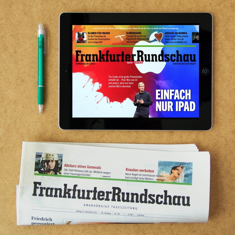 Portfolio Bild FRANKFURTER RUNDSCHAU Tablet Edition